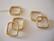 Metallihelmi/helmikehys (helmihäkki) kullattu neliö 22 x 20 mm (2 kpl/pss)