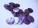 Simpukkahelmi/-linkki vaalea lila pyöreä litteä 15 mm, 2 reikäinen (10/pss)