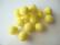 Huovutettu helmi keltainen n. 10 mm (5 kpl/pss)