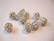 Shamballa/pave -strassihelmi valkoinen pyöreä 10 mm