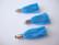 Tasselitupsu turkoosi hopeoidulla ripustuslenkillä n. 34 mm(2 kpl/pss)
