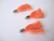 Tasselitupsu oranssi hopeoidulla ripustuslenkillä n. 34 mm (2 kpl/pss)