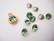 Swarovski kristalli rivoli vihreä (Erinite) pyöreä 8 m SS39 (2 kpl/pss)