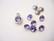 Swarovski kristalli rivoli violetti (tanzanite) pyöreä 8 m SS39 (2 kpl/pss)