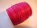 Puuvillanauha vahattu ruusunpunainen 0,6 mm (me 1 m)