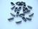 Palloketjun lukko antiikkihopeanvärinen (3,5 x 8,5 mm) 2,4 mm palloketjulle (20 kpl/pss)