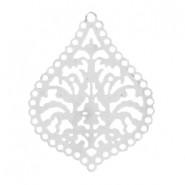 Riipus Bohemian hopeoitu 27 x 21 mm (2 kpl/pss)