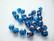 Tsekkiläinen fasettihiottu lasihelmi pyöreä tumma vedensininen AB 8 mm (20 kpl/pss)