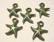 Boho riipus Meritähti kuparipatina 17 x 14 mm (2 kpl/pss)