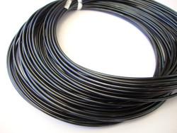 Alumiinilanka pyöreä anodisoitu musta 18 Gauge = 1,02 mm (13,7 m)