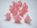 Akryylihelmi kellokukka punainen 17 x 12 mm (10/pss)