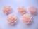 Akryylihelmi/kapussi Ruusu kiiltävä vaaleanpunainen tasapohjainen 20 mm