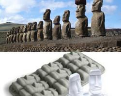 Muotti Pääsiäissaaren Moai-patsas, korkeus n. 60 mm/leveys n. 27 mm