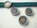 Boho Metallihelmi/kapussipohja kuparipatina 10 mm nahkanauhalle 14 mm