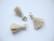 Tasselitupsu beige hopeoidulla ripustuslenkillä n. 20 mm (2 kpl/pss)