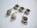 Korulinkki / riipus antiikkihopeoitu 17 x 10 mm SS39 (n. 8 mm) rivolille (2 kpl/pss)