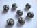 Kashmirihelmi antrasiitin harmaa-hopea 12 mm , reikä n. 2 mm
