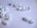 Turvalukko muovia valkoinen 20 x 10 mm