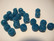 Kimallerondelli Teal/petroolinvärinen 8 mm (10 kpl/pss)