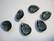 Lasihelmi/lasiriipus fasettihiottu pisara antrasiittiharmaa 14 x 10 mm (2 kpl/pss)