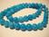 Marmori värjätty akvamariinin sininen pyöreä 8 mm (20/pss)