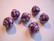 Kashmirihelmi violetti-hopea 14 mm, reikä n. 2 mm
