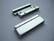 Nauhanpää / magneettilukko nauhoille, liimattava hopeoitu 43 x 17 mm, sisämitta 40 x 2,5 mm