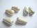 Posliinihelmi/riipus Pisara  beige 26 x 13, reikä n. 2,5 mm (2 kpl/pss)