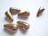 Posliinihelmi/riipus Pisara tummanruskea 26 x 13, reikä n. 2,5 mm (2 kpl/pss)