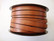 Nahkanauha litteä ruskea 5 x 2 mm sileä nappanahka (m-erä 20 cm)