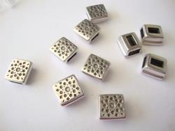 Metallihelmi/hela (slider) Auringonpilkut 9 x 9 mm 5 mm nahkanauhalle
