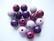 Rayher Puuhelmimix (puuhelmisekoitus) lila-/violettisävyt 12 mm (32  kpl/pss)