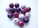 Rayher Puuhelmimix (puuhelmisekoitus) lila-/violettisävyt 16 mm (15  kpl/pss)