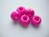 Fasettihiottu/särmikäs lasihelmi pinkki rondelli 6 x 13 mm, suurireikäinen (5 kpl/pss)