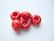 Fasettihiottu/särmikäs lasihelmi punainen rondelli 6 x 13 mm, suurireikäinen (5 kpl/pss)