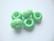 Fasettihiottu/särmikäs lasihelmi vihreä rondelli 6 x 13 mm, suurireikäinen (5 kpl/pss)