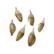 Sulka/höyhen Dip-dye luonnonvalkoinen/kärki kulta n. 3,5 cm