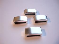 Metallihelmi/hela (slider) Sileä 7 x 13 mm 10 mm nahkanauhalle