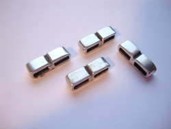 Metallihelmi/hela (slider) Sileä 2-osainen 5 x 12 mm 5 mm nahkanauhalle