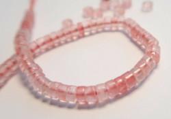 Kivihelmi vaaleanpunainen rondelli 4 mm (10 kpl/pss)