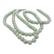 Posliinihelmi pyöreä 8 mm vaaleanvihreä, reikä n. 1,4 mm (20 kpl)