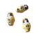 Posliinihelmi / riipus venäläinen Maatuska keltainen 22 x 13 mm