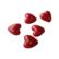 Lasihelmi sydän punainen 12 x 12 mm (5 kpl)