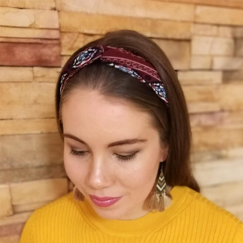 Zoe- hiuspanta, pun. kuviollinen