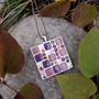 Piazza- kaulakoru, vaaleanpunainen
