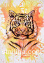 Tiikeri -maalaus, 29,7 x 42 cm (A3)