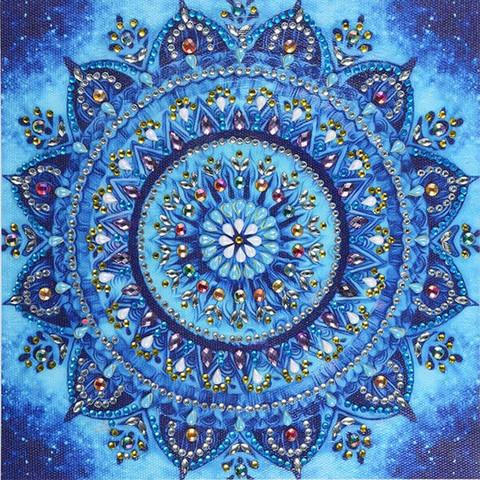 Mandala- timantti työ, 2 väriä