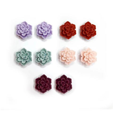 Violetit ruusu-korvakorut