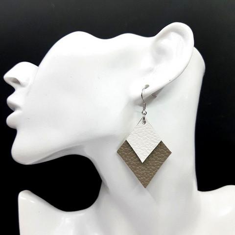 Salmiakki-korvakorut, harmaa + valkoinen