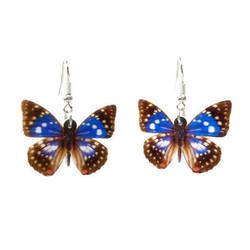 Sininen perhonen-korvakorut